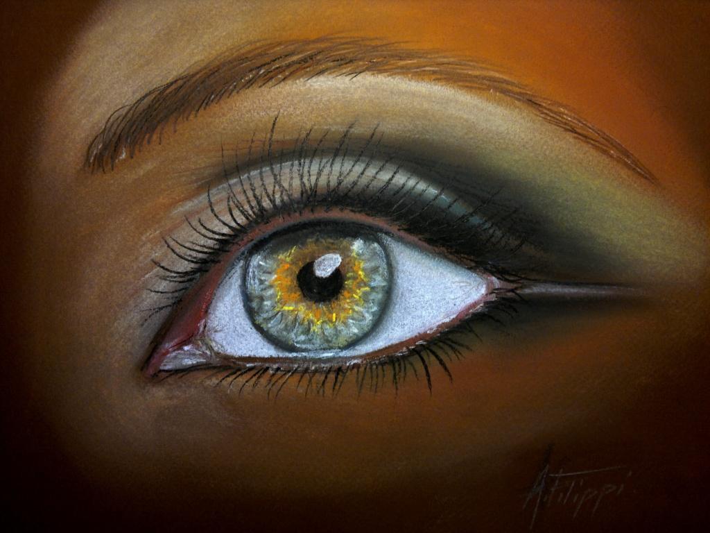 Peinture Dans L Oeil oeil maquillé – pastel sec · alain filippi – peintures
